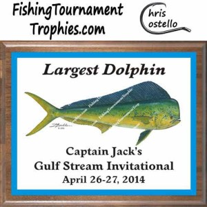 Fishing Tournament Trophy Plaques